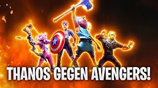 Gambar cover THANOS gegen AVENGERS MEGA BATTLE + MARVEL SKIN! 👿 | Fortnite: Battle Royale