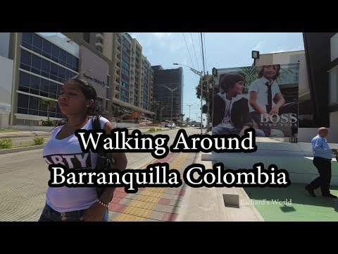 Walking around Barranquilla Colombia - City of Shakira and Sofia Vergara