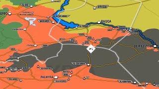 14 августа 2017 года. Военная обстановка в Сирии и Ираке. Занятая Асадом территория выросла на 250%