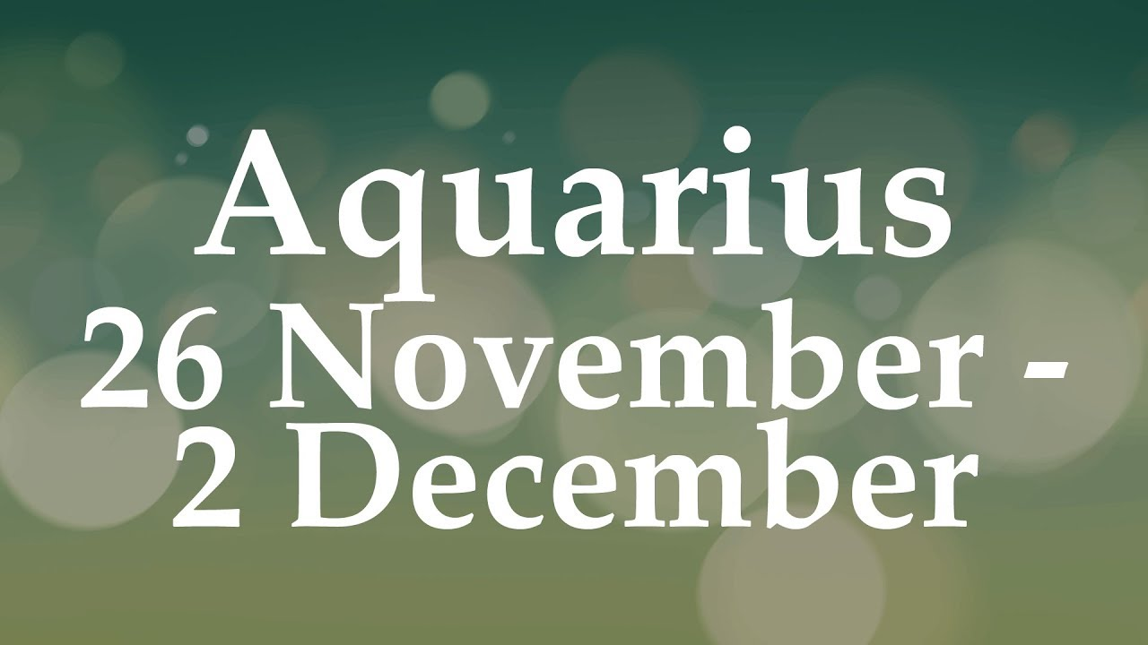 aquarius weekly 20 to 26 tarot january