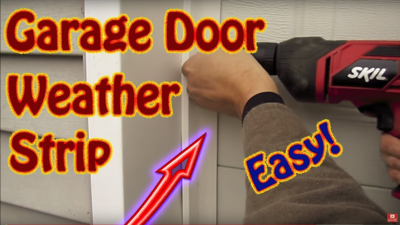 garage door weather strippingDIY  How to Install Garage Door Weather Seal  Winterize With