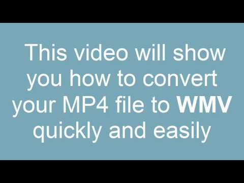 How to convert MP4 to WMV