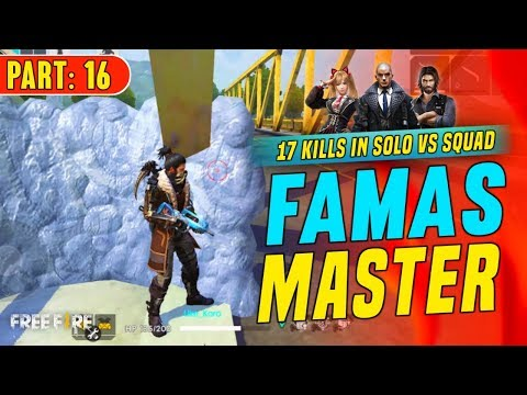 Famas Master 17 Kills In Solo Vs Squad - Garena Free Fire- Total Gaming