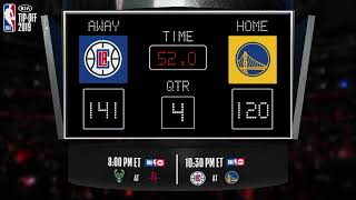 Clippers @ Warriors LIVE Scoreboard - Join the conversation and catch all the action on #NBAonTNT!