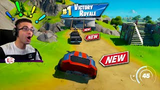 Nick Eh 30 reacts to CARS in Fortnite!