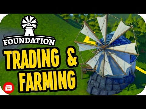 Foundation: ▶TRADING, FARMING & SERFS!◀ Medieval City Building Game #2 (Alpha)