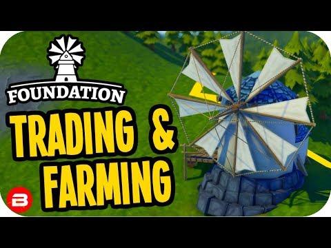 Foundation: ▶TRADING, FARMING & SERFS!◀ Medieval City Building Game #2 (Alpha)