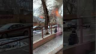 Крупный пожар на ул. Николая Панова