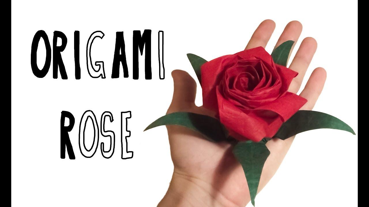 origami pentagonal rose riccardo foschi inspired by