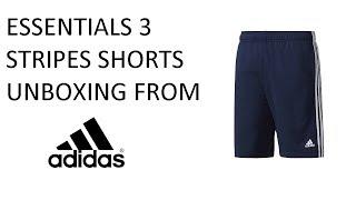Скачать Essentials 3 Stripes Adidas Training Shorts Navy Blue Unboxing Ep 10