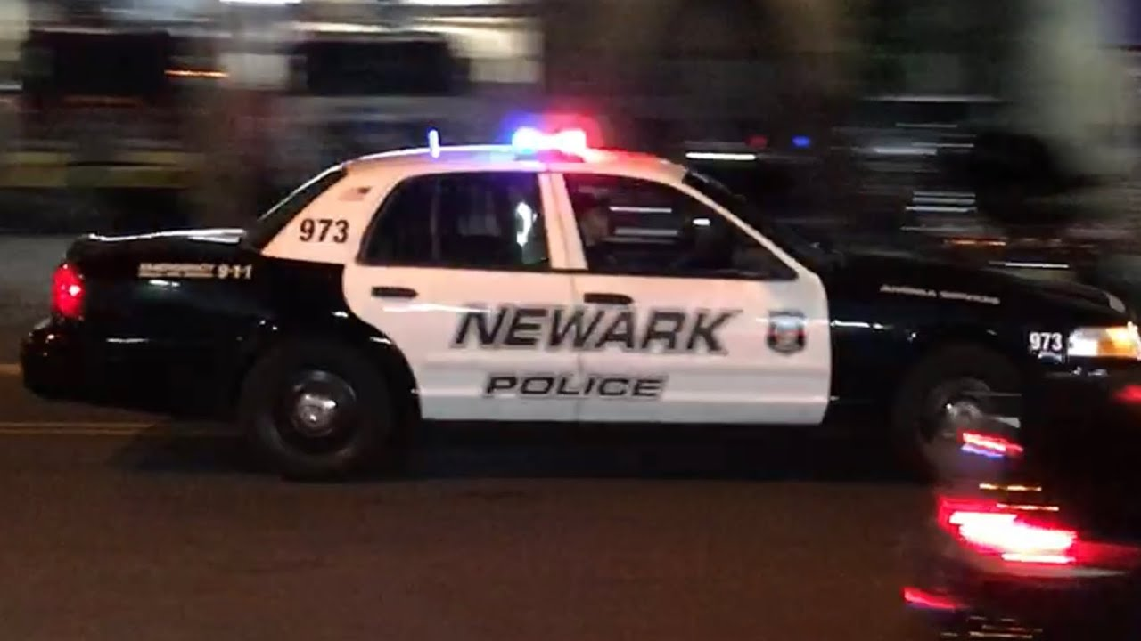 quick glimpse of newark police department unmarked  u0026 marked units responding on park ave  in