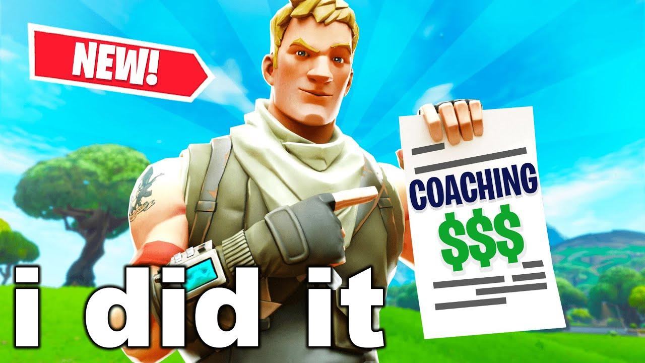 I Became A Fortnite Coach For A Week & Made $___