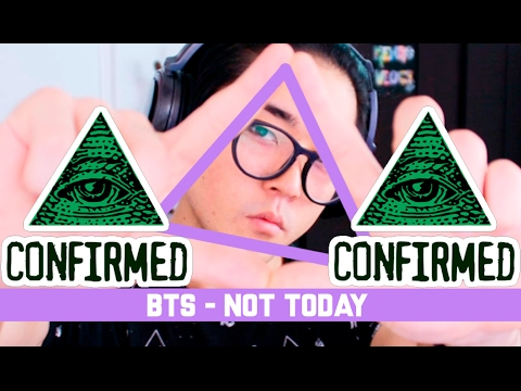 Thumbnail: BTS - NOT TODAY MV REACTION (ILLUMINATI CONFIRMADO) | kenroVlogs