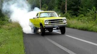 Dodge 440 pickup burnout