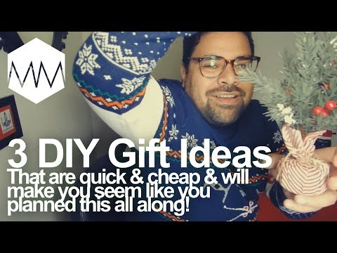 ▲ 3 DIY Christmas Gift Ideas // Quick Cheap and Easy
