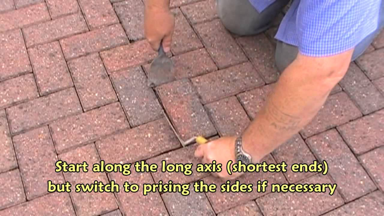 Removing A Block Paver Using Basic Tools Youtube