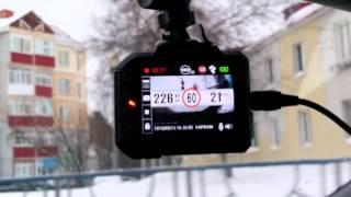 видео Видеорегистратор с предупреждением о камерах