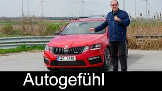 Skoda Octavia RS 230 hp FULL REVIEW Facelift 2018/2017 test driven new
