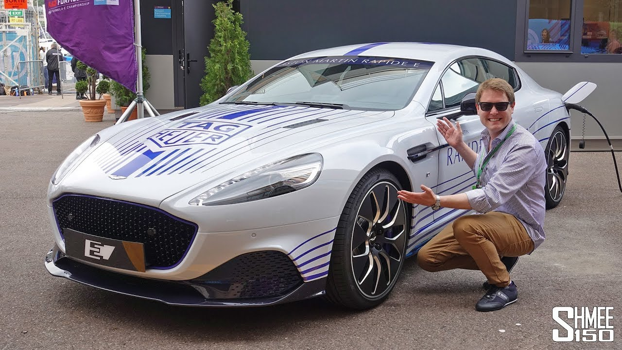 Flat Out In The Aston Martin Rapide E Electric Super Saloon First Look Youtube