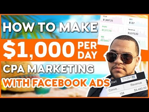 How To Become Profitable With Facebook CPA Marketing And Make $1,000+ A Day thumbnail