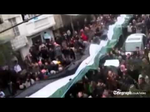 Protests throughout Syria against President Assad's regime