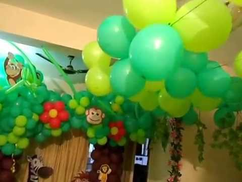 Jungle Theme Birthday Party at House YouTube
