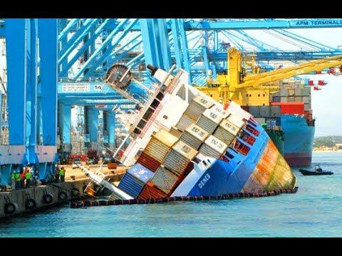 Big Container Ships Crashing Compilation