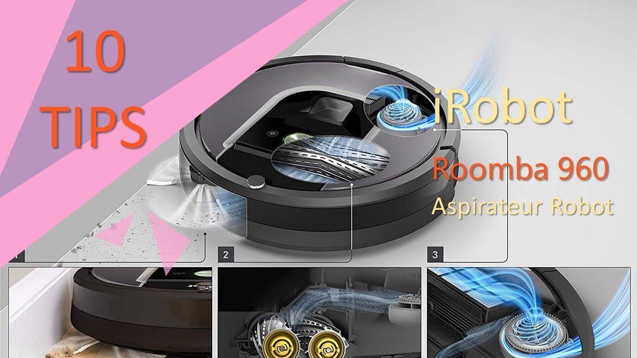 irobot roomba 960 aspirateur robot id al pour les poils d 39 animaux youtube. Black Bedroom Furniture Sets. Home Design Ideas