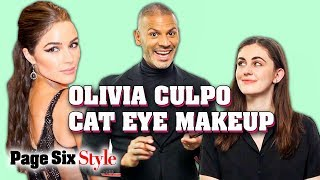 How To Do Olivia Culpo's Cat Eye Makeup with Vincent Oquendo | Page Six Style