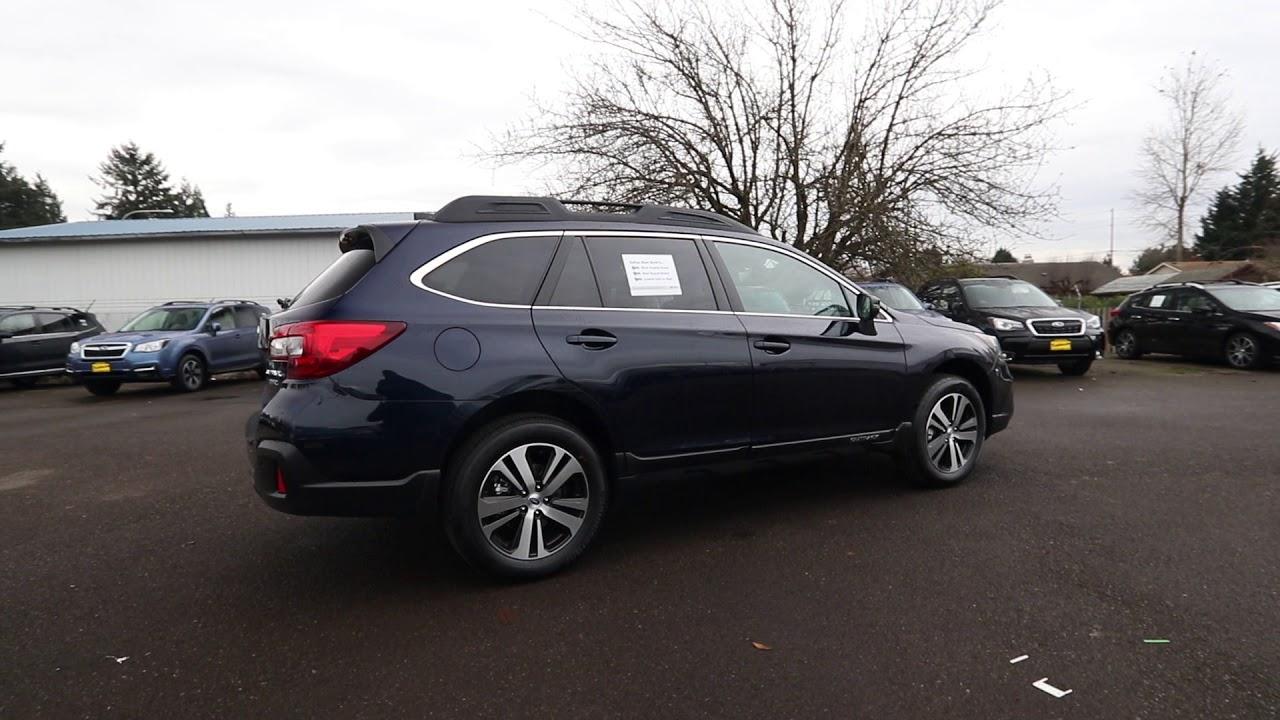 2018 Subaru Outback 3 6r Limited Dark Blue J3265106 Kent