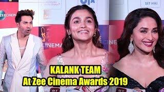 KALANK Cast At Zee Cinema Awards 2019   Varun Dhawan, Alia Bhatt, Madhuri Dixit