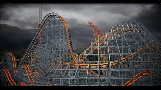 Six Flags Wicked Cyclone POV New For 2015! New England Roller Coaster Animation B-Roll