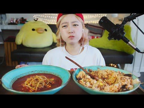 3.(asmr) BIBIMBAP + Soup [ft. Soy Bean Sprouts] eating sounds