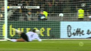Футбол 2011 Украина Германия разгром первый тайм