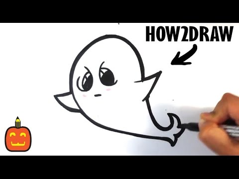 How to Draw a Spooky Ghost(Cute) - Halloween Drawings ...