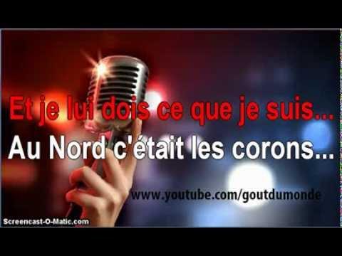 KARAOKÉ : Les Corons (Pierre Bachelet)
