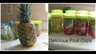 Fruit Cups  Grapes, Peach, Pineapple,  & Strawberries