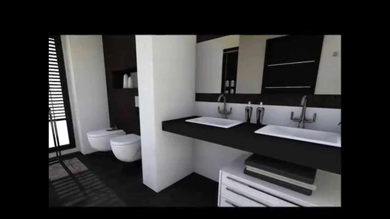 Diseo Interior Un dormitorio en Blanco y Negro  YouTube
