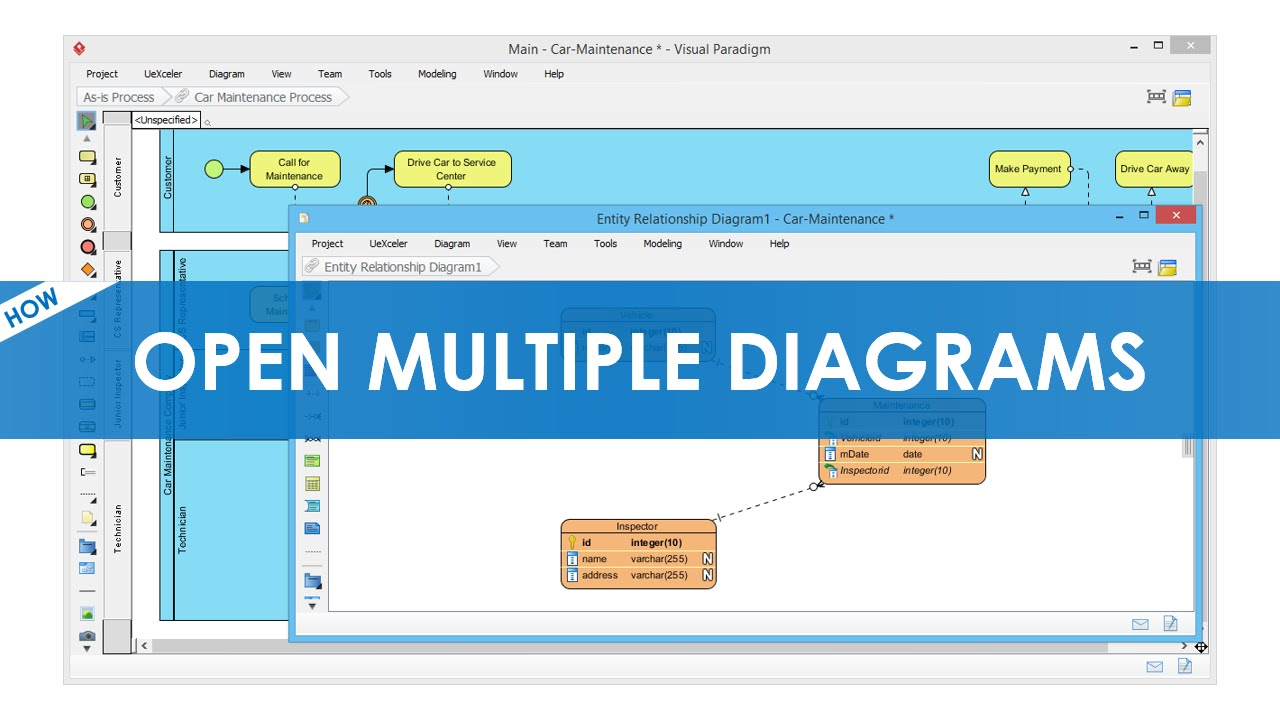how to open multiple diagram windows visualparadigm - Visual Paradigm Viewer