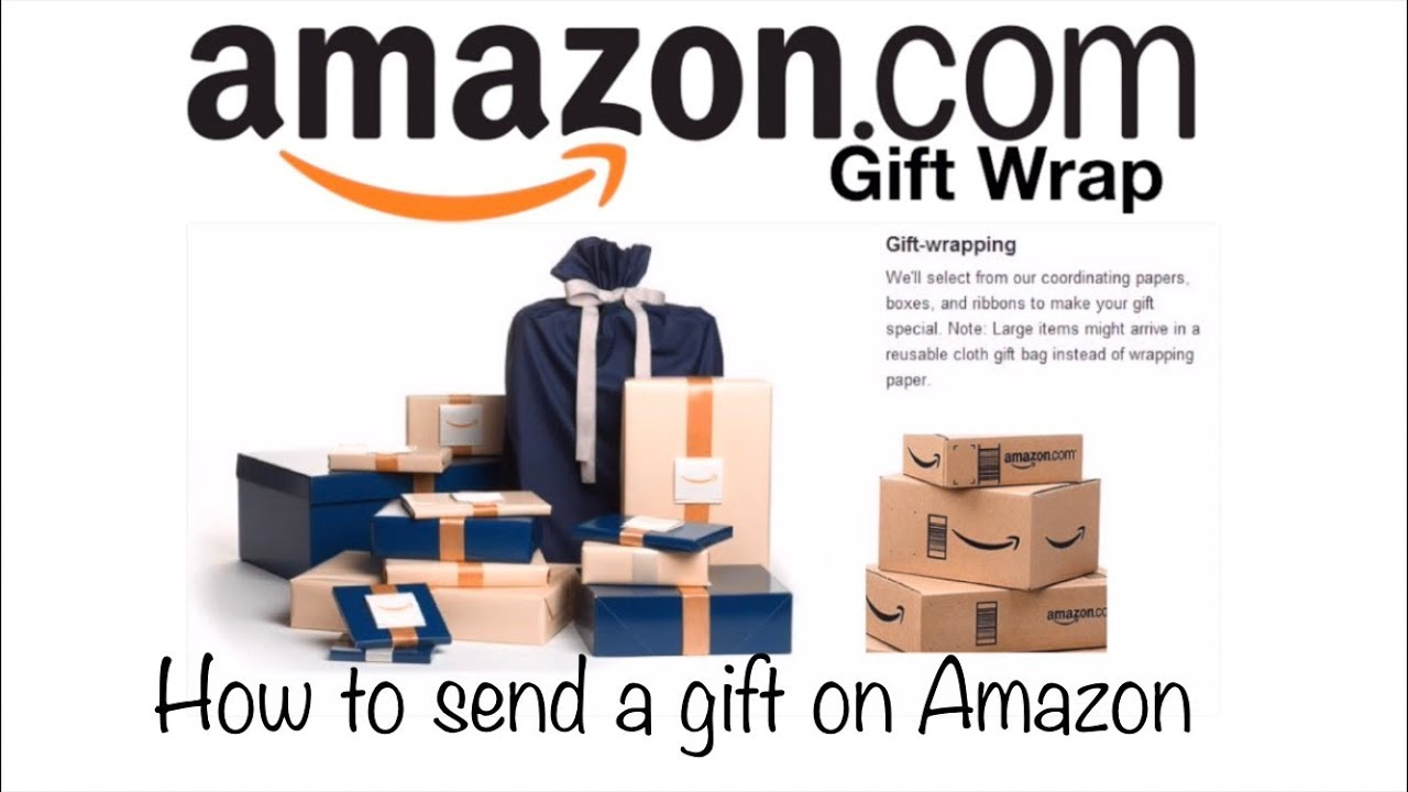 AMAZON GIFT WRAP OPTION! I How to send a gift on amazon I Online gift wrap review!  sc 1 st  YouTube & AMAZON GIFT WRAP OPTION! I How to send a gift on amazon I Online ...