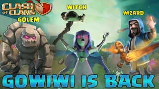 Clash Of Clans : GOWIWI TH9 3 STAR WAR STRATEGY ! HOW TO USE GOWIWI ! TH9 OLD WAR STRATEGY !WITCH!