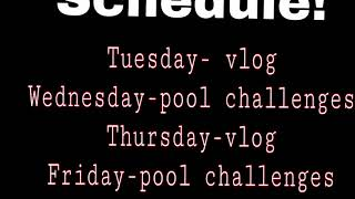 First Video-schedule For This Week!
