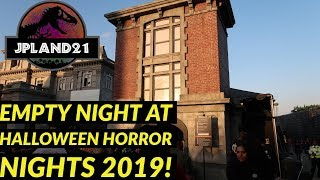 An Empty Thursday Night at Halloween Horror Nights Hollywood 2019!