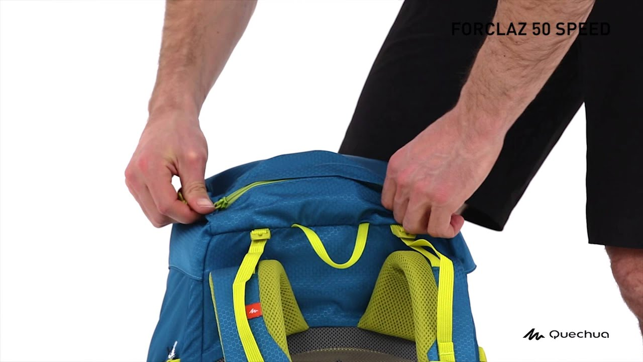 0f53541cd653 Quechua - Forclaz 50 Speed Backpack - YouTube