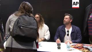 'Justice League' stars Gadot, Affleck, Momoa sign autographs for fans at Comic-Con