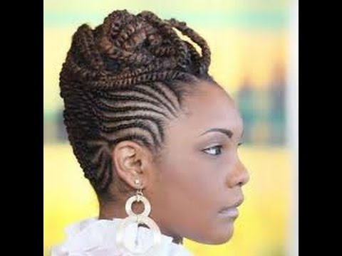 cornrow updo hairstyles