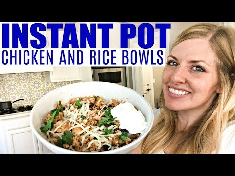 Instant Pot Enchilada Chicken And Rice Bowls - Beginner Recipe