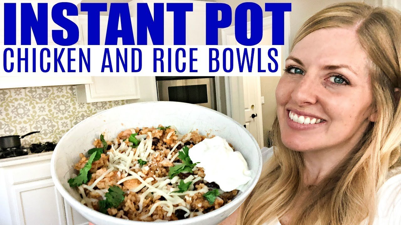 Instant Pot Enchilada Chicken And Rice Bowls Beginner Recipe Youtube