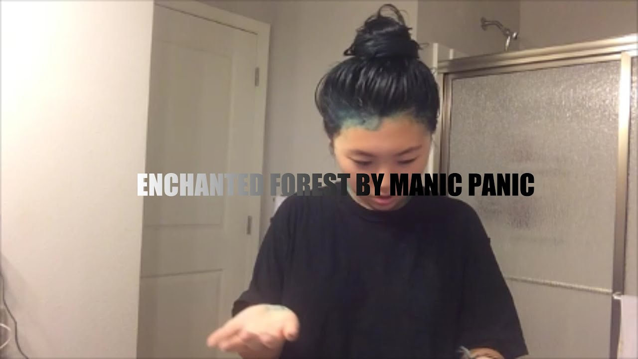 Popolare DYING MY HAIR ENCHANTED FOREST BY MANIC PANIC - YouTube KH58