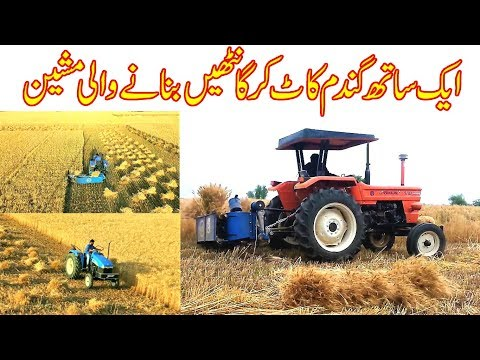 BCS Wheat Reaper Binder With NH 480 Tractor In Pakistan